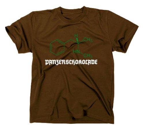 #3 Crystal Meth Panzerschokolade Pervitin T-Shirt Cook Breaking Bad, XXL, braun