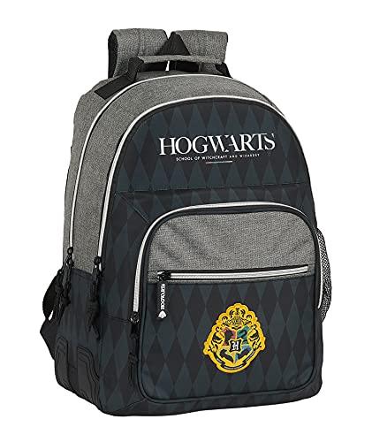 Safta Mochila Escolar de Harry Potter Hogwarts, 320x150x420 mm, Negro/Gris