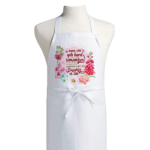 You mean the world to Somebody that Calls You Daughter-In-Law Mothers day Birthday Floral Gift Adult Kitchen Apron.