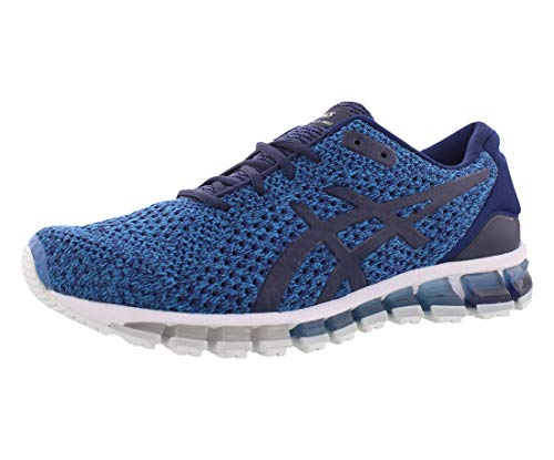 ASICS Men's Gel-Quantum 360 Knit Running Shoes, 7.5M, Indigo Blue/Peacoat/Pale Gold