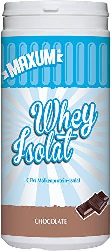 Maxum Whey Isolat Chocolate, 390g Dose - CFM Molkenprotein-Isolat