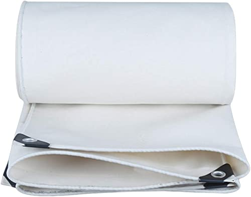 Toile Blanche de bache imperméable résistante épaisse de 0.8mm réversible imperméable bilatérale (Taille   4x4m)