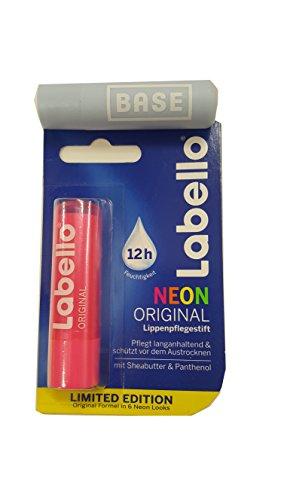 Labello (Beiersdorf) neon ROSA Lippenpflegestift 4,8 g.Limited Edition + Werbelippi