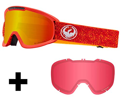 Dragon DX2 Skibrille inkl. Wechselscheibe, Farbe:Maze/lumalens red ion + lumalens Rose