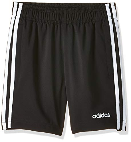 adidas Youth Boys E 3 Stripes Woven, Shorts Bambino, Black/White, 9-10A