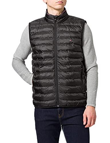 Tommy Hilfiger Packable Circular Vest Chaleco de Plumas, Negro, XL para Hombre