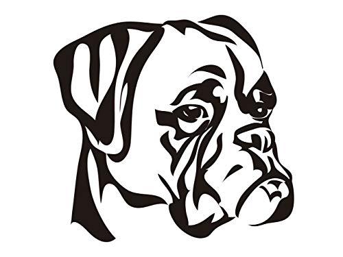 Oedim Pack 5 Pegatinas Perro Boxer | 12 x 11cm | Adhesivo de Fácil Colocación | Pegatina para Coche Económica y Resistente