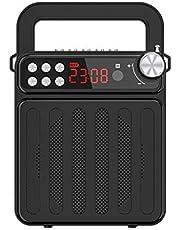 Bluetooth-luidspreker, draagbare draadloze Bluetooth-luidspreker FM-radio met handvat en standaardluidspreker voor buiten, wandelen, kamperen, strand