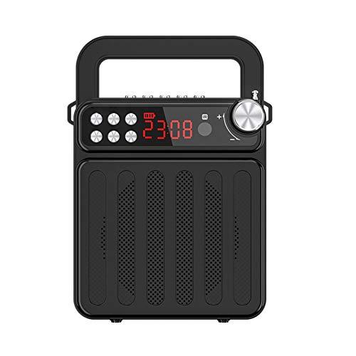 Altavoz Bluetooth, altavoz Bluetooth inalámbrico portátil, radio FM con asa y altavoz de pie para exteriores, senderismo, camping, playa