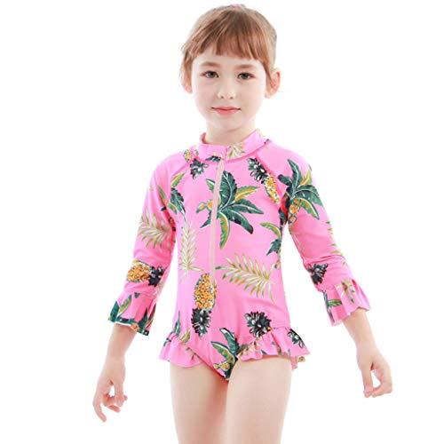 Meisjes Een Stuk Badmode Peuter Kinderen Zwemmen Kostuum Tropische Strand Hawaii Stijl Badpak 100 / For Height 95-105cm C