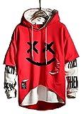 Hello MrLin Techwear Hip Hop - Sudadera con capucha para hombre, diseño de patchwork