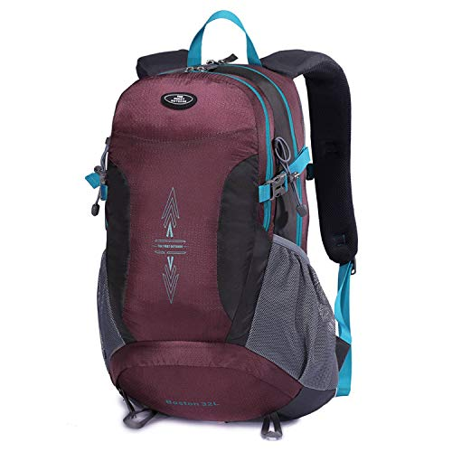 TFO Hiking Backpack with Rain Cover Waterproof 32L S-Shape Shoulder Strap Daypack for Outdoor