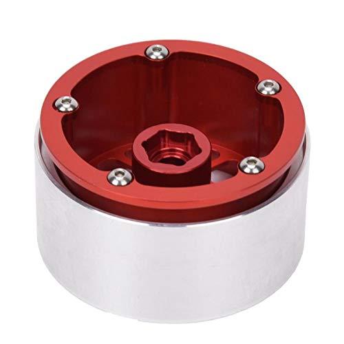 Tomantery Leichtmetall-Radnabe Perfect Style RC-Radnabe 4-teilig 2,2 Zoll mit hoher Festigkeit für 1/10 RC-Car(red)
