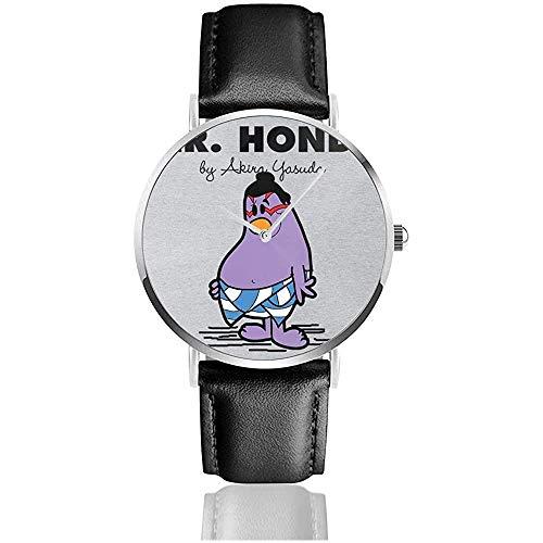 Business Casual Mr Ho-nda Street Fighter Mr Men Relojes Reloj de Cuero de Cuarzo