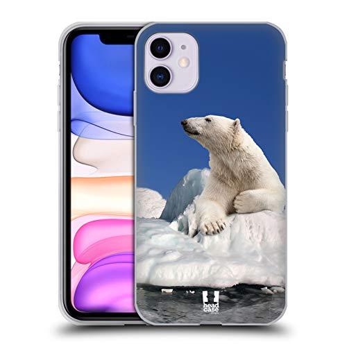 Head Case Designs Eisbär Auf EIS Tierwelt Soft Gel Handyhülle Hülle Huelle und Passende Designer Hintergrundbilder kompatibel mit Apple iPhone 11