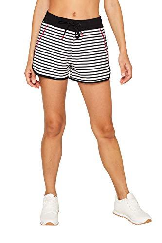 ESPRIT Sports Damen Shorts wv AOP Sportshorts, Weiß (Off White 3 112), W(Herstellergröße: M)