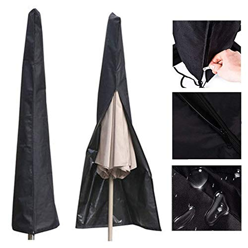 AQzxdc 210D Oxford Fabric Garden Outdoor Patio Umbrella Zipper Cover fit 6ft to 11ft Umbrellas Canopy, Waterproof Ligero y Duradero,75 * 20 * 12inch