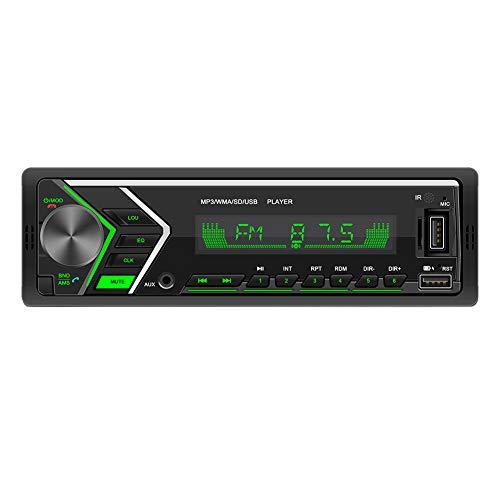Youmine Universal Car Radio Reproductor de MP3 AUX Cars Unidad Principal EstéReo con Control Remoto SWM-505
