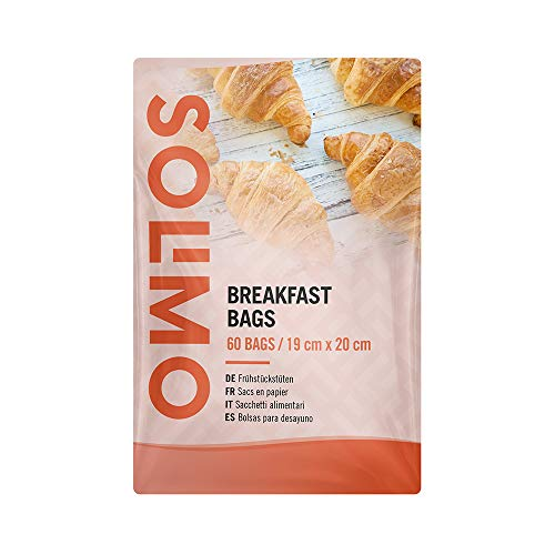 Marca Amazon - Solimo Bolsas para Desayuno - 60 bolsas de pa