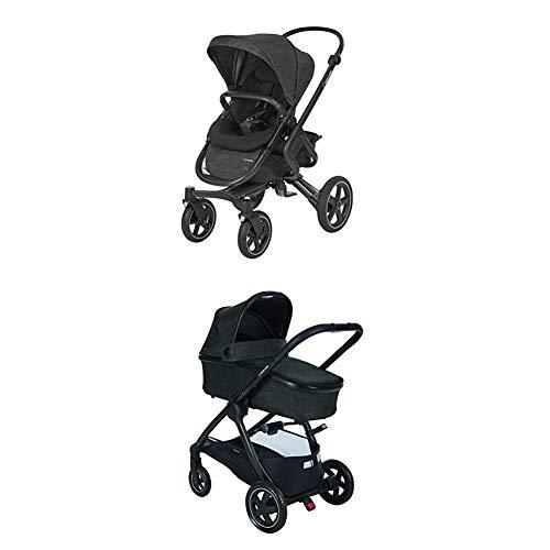 Maxi-Cosi Nova 4-Rad Kombi-Kinderwagen, komfortabel für Stadt und Land, Nomad grey + Oria große Babywanne, für Maxi-Cosi Kinderwagen Buggy Nova, Stella, Adorra, Dana, nomad grey (grau)
