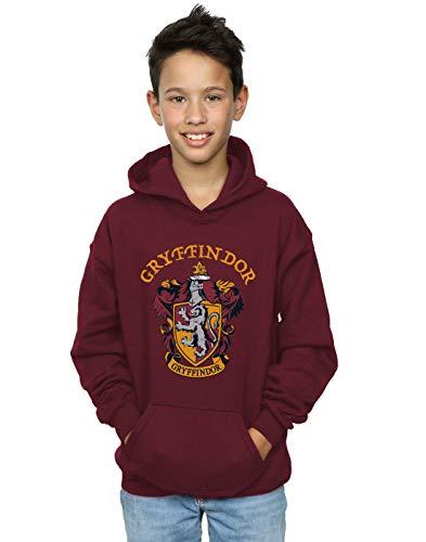 Harry Potter Garçon Gryffindor Crest Sweat À Capuche Bourgogne 9-11 Years