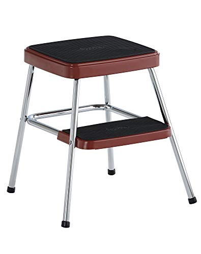 COSCO Stylaire Retro Two-Step Step Stool (red, one pack)