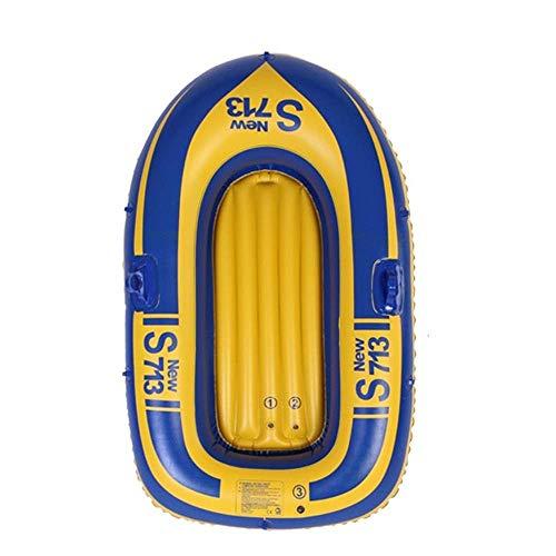 Challenger Kayak Gonfiabile Gonfiabile Confortevole Kayak Hovercraft Per Il Tempo Libero Barca Pieghevole 1 Persona Canoa Sport Marino Pesca Avventura PVC Spesso Di Spessore 152 * 80Cm Giallo Carico 5