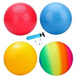 EVERICH TOY Playground Balls 8.5Inch Dodgeball-Kickball for Kids and Adults-Outdoor Ball Games for Kids with Pump(Set of 4)