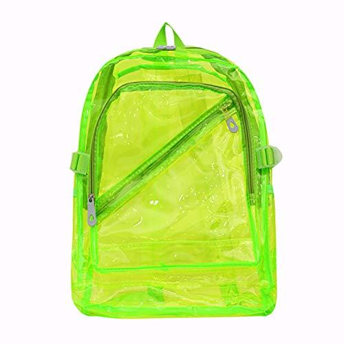 Desire Sky Mochila transparente para estudiantes, mochila para adolescentes, mochila transparente de PVC, impermeable, para exteriores, para viajes, eventos deportivos, color morado