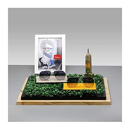 zenglingliang Anteojos Estante Soporte de Gafas de Madera Sistema Sistema de Gafas de Sol Gafas Pantalla Soporte Mueble Mueble Ventana...