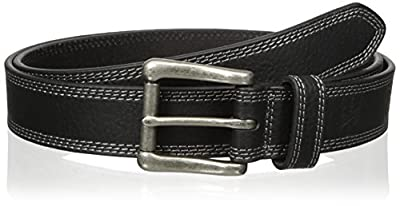 Nocona Belt Co. Men's Work Black Triple Stitch, 46