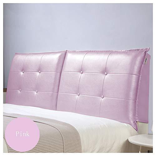 QIANCHENG-Cushion Kopfteil Rückenlehnen Bett Kissen Einfach zu waschen Elegant und ergonomisch Ohne Kopfteil, 9 Farben, 5 Größen Optional (Color : Pink, Size : 90 * 10 * 60cm)