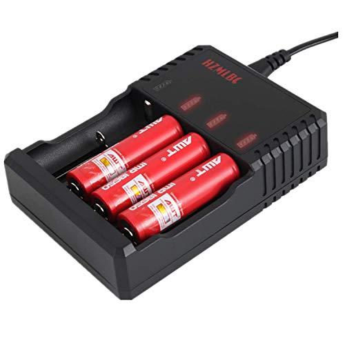 Caricabatterie rapido al litio da 4,2 V, 2 A, 18650, 26650, 18500, 18350, 17670, 17500, 16340, 14500, 10440, 4 alloggiamenti