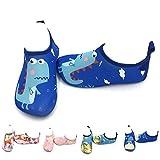 CheChury Zapatos de Agua Niños Unisexo Patrón de Dibujos Animados Lindo Natación Zapatos de Playa Suela Antideslizante Surf Escarpines Deportivos