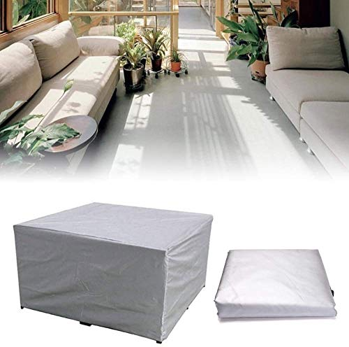XJZKA Garden Furniture Cover 220x220x85cm Water Repellent Windproof Outdoor Furniture Covers with Windproof Drawstring for Garden Furniture Sets, Gray
