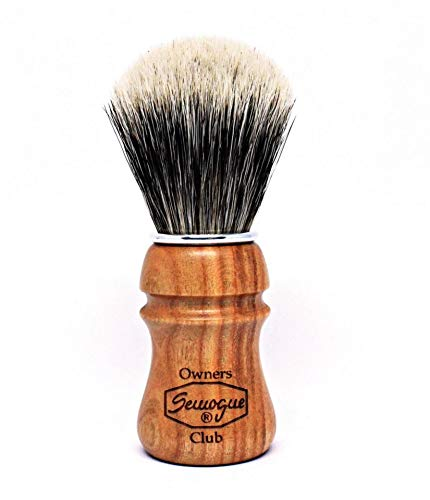 S.O.C. Cherry Wood Shave Brush - Badger shave brush by...
