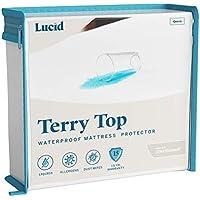 Lucid Premium Hypoallergenic 100% Waterproof Mattress Protector (Cotton Terry Top / Twin)