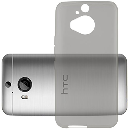 Cadorabo Hülle für HTC ONE M9 Plus (3.Gen.) - Hülle in TRANSPARENT SCHWARZ – Handyhülle aus TPU Silikon im Ultra Slim 'AIR' Design - Silikonhülle Schutzhülle Soft Back Cover Hülle Bumper