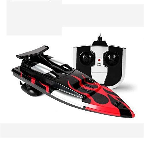 ADLIN High-Speed-Fernbedienung Boot, Rc Speedboat, 2,4 GHz 4-Kanal Elektrorennboot for Schwimmbäder und Seen, eingebaute Wasserkühlsystem for Kinder Boot Spielzeug, batteriebetriebenes,