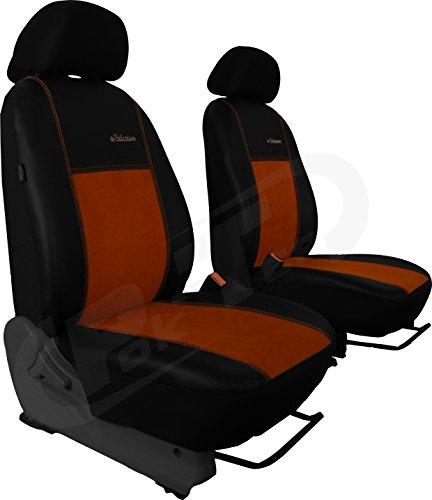 Autositzbezüge BUS 1+1 ALKANTRA EXCLUSIVE passend für FORD TOURNEO COURIER in diesem Angebot BRAUN (In 5 Farben bei anderen Angeboten erhältlich) . Sitzbezug Fahrersitz + Beifahrersitz + 2 Kopfstützen