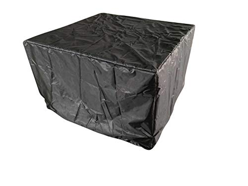 RayGar 9 Piece 8 Seater Rattan Cube Set Cover Black