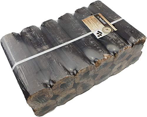 Moesta-BBQ 10123 - PowerBricks Hartholz-Briketts – Buchen-Eichen-Brikett für extra Hitze im Holzkohlegrill/Kugelgrill