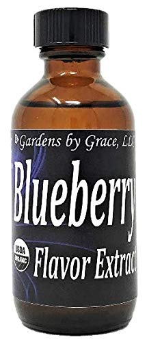 Organic Flavor Extract Blueberry | Use in Gourmet Snacks, Candy, Beverages, Baking, Creamer, Tea, Ice Cream, Frosting, Syrup and More | GMO-Free, Vegan, Gluten-Free, 2 oz