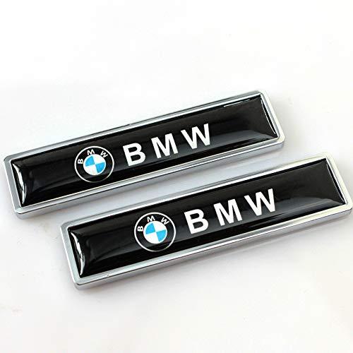 Ycsm 2 Stück Metall dekorative Logo Abzeichen Aufkleber Seitenfender Abzeichen Aufkleber für BMW