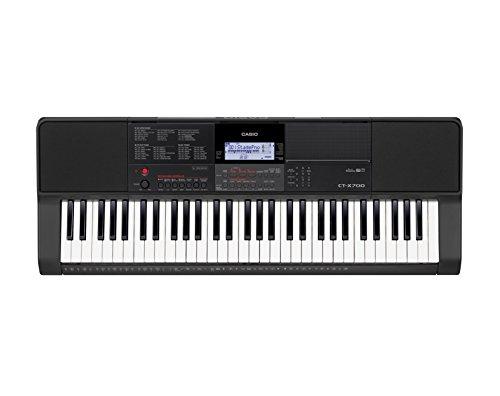 Casio CT-X700 Keyboard mit 61 anschlagdynamischen Standardtasten und Begleitautomatik