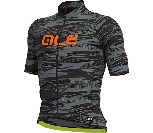 Alé Cycling Graphics PRR Rock Kurzarm Trikot Herren Black/Fluo orange Größe L 2020 Radtrikot kurzärmlig