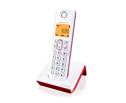 Alcatel S250- Teléfono Inalámbrico, Color Rojo/Blanco