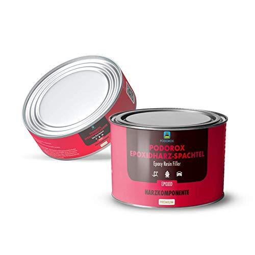 Podorox Epoxid Spachtel | 600 g Arbeitspackung | Geeignet für Unterwasserbereich | Feinspachtel | Füllspachtel | Epoxy Spachtelmasse