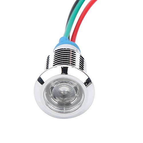 Emoshayoga LED Redondos precableados Mini LED de Dos Colores para máquinas Herramienta CNC para modificación por computadora(Red Green, Transl)