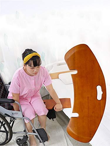 GHzzY Transfer Board - Gebogenes Gleitbrett für reibungsfreies Bett-, Rollstuhl- und Autotransfer - Transfer Board für ältere und behinderte Menschen